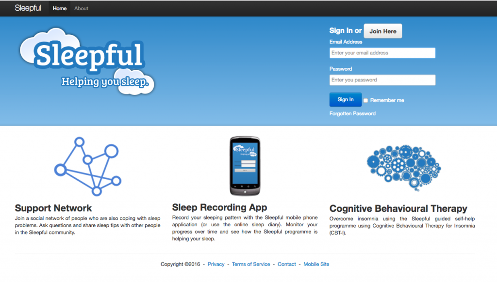 An online social network for those living with insomnia